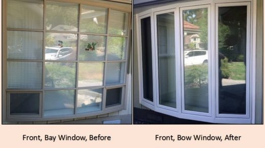 before and after window install