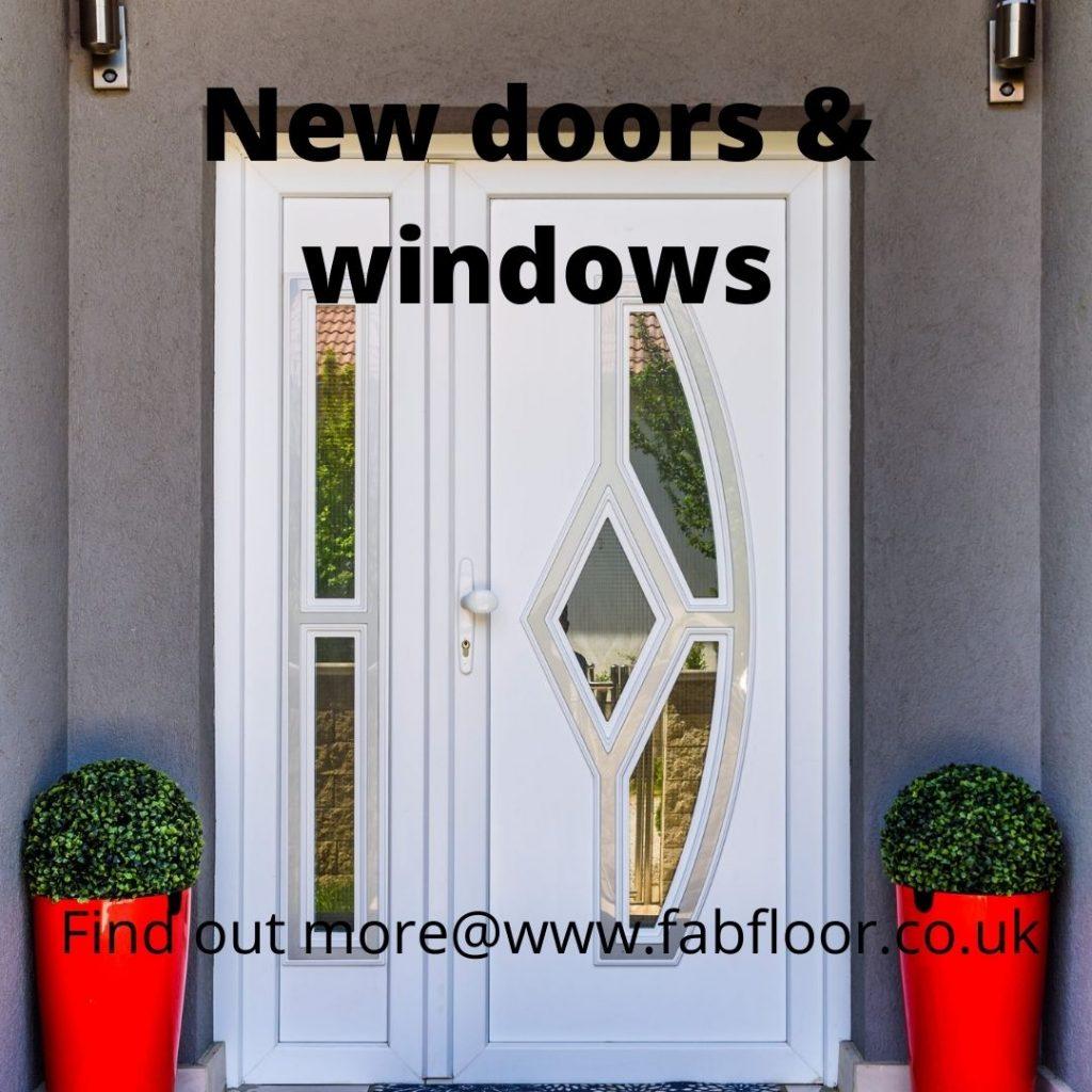 New double glazed door install